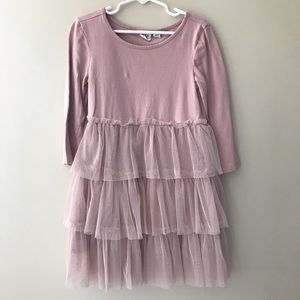 GAP Kids Dusty Rose Layered Tulle Dress size 6/7